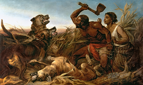 The Hunted Slaves Print by Richard Ansdell
