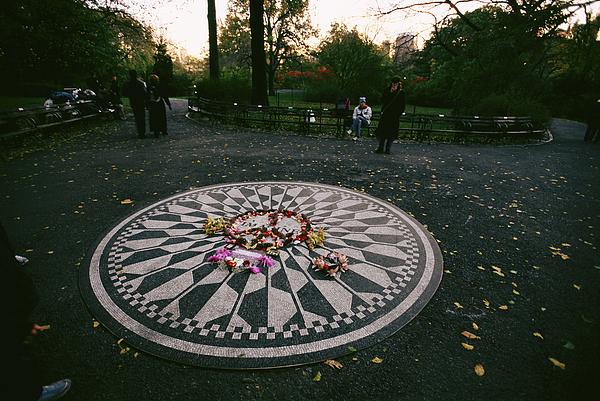 The Imagine Mosaic, A Memorial To John Print by Melissa Farlow