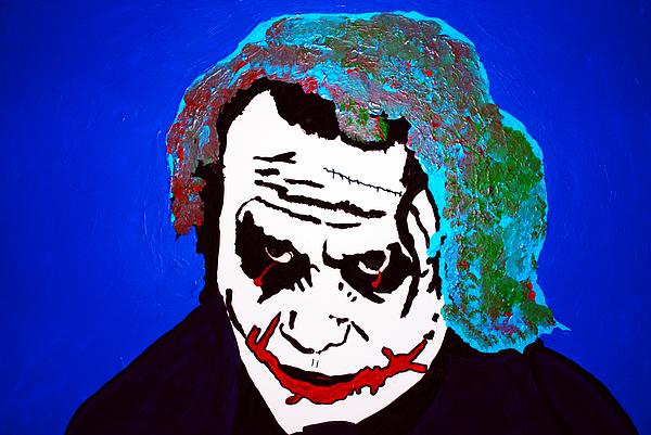 The Joker Sucking On A Pistol Print by Robert Margetts