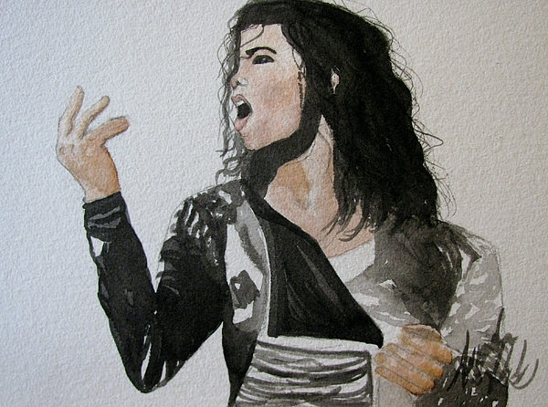The King Of Pop Print by Amanda Burek