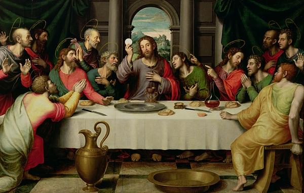 The Last Supper Print by Vicente Juan Macip