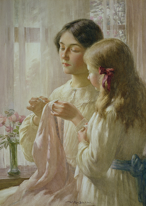 The Lesson Print by William Kay Blacklock