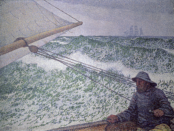 The Man At The Tiller Print by Theo van Rysselberghe