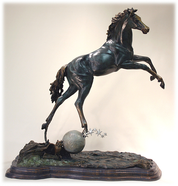 The Moonhorse Bronze Print by Dawn Senior-Trask