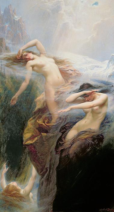 The Mountain Mists Print by Herbert James Draper