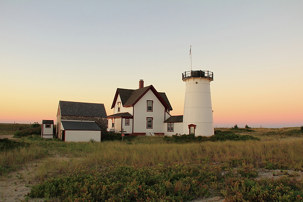 The Old Stage Harbor Light Print by Roupen  Baker