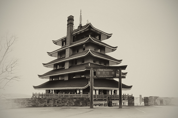 The Pagoda - Reading Pa. Print by Bill Cannon