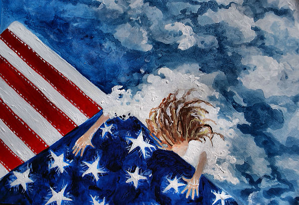 The Patriot Returns Home Print by Mary Sonya  Conti