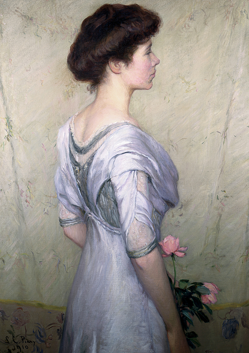 The Pink Rose Print by Lilla Cabot Perry