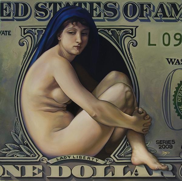 The Rape Of Lady Liberty Print by Patrick Anthony Pierson
