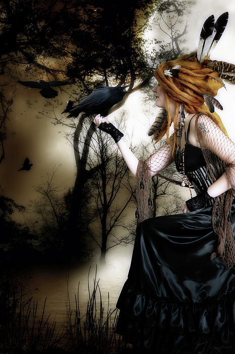 The Raven Print by Shanina Conway