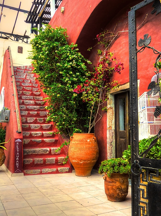The Red Staircase Print by Michael Garyet