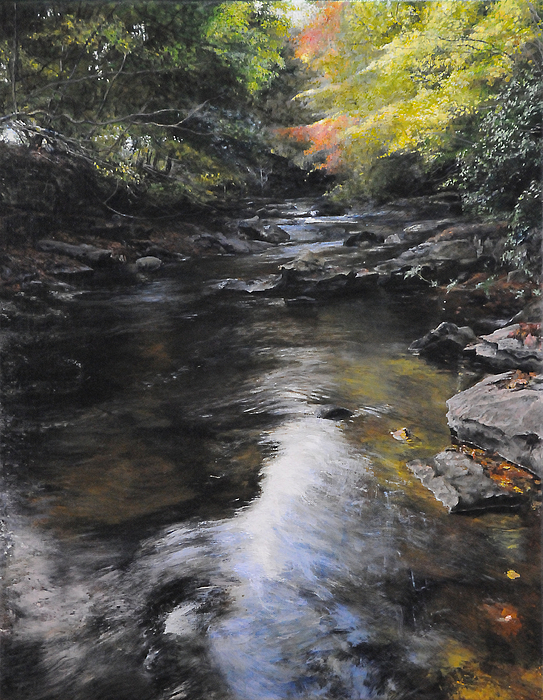The River At Lady Bagots Print by Harry Robertson