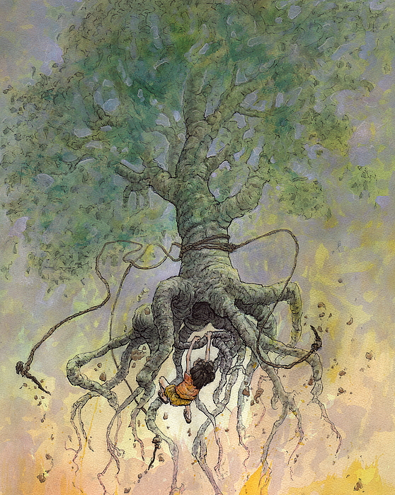 The Roaming Oak Print by Ethan Harris
