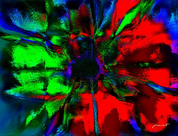 The Scent Of A Flower Print by Fania Simon