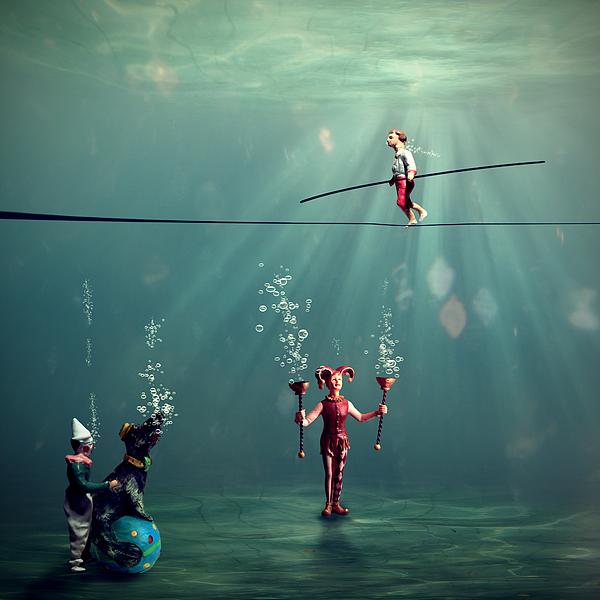The Secret Venetian Circus Print by Martine Roch