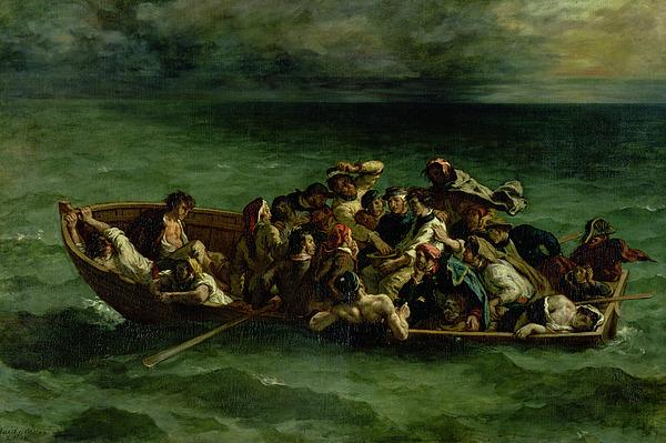 The Shipwreck Of Don Juan Print by Ferdinand Victor Eugene Delacroix