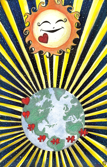 The Sun Shines On Everyone Equally Print by Rachel Walker