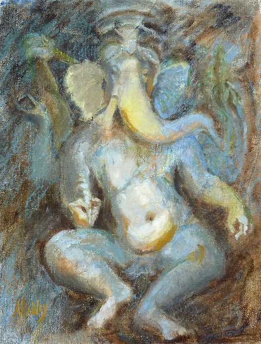 The Temple Of Love Ganesh Print by Ann Radley