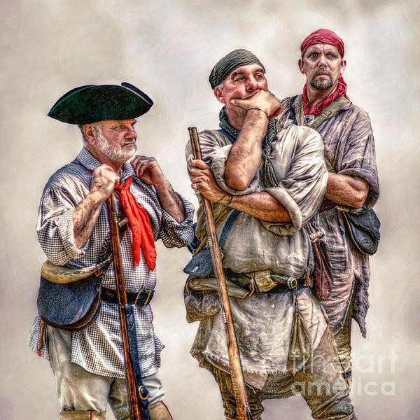 The Three Frontiersmen Print by Randy Steele