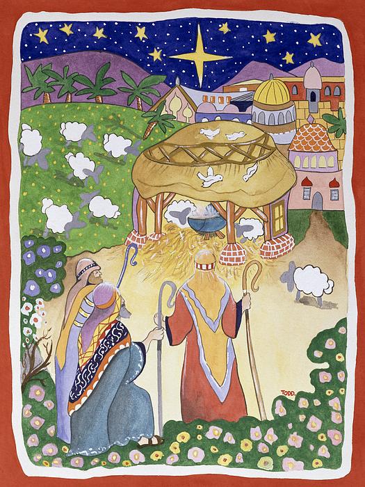 The Three Shepherds Print by Tony Todd