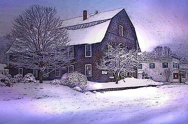 The Town Hall In Reading Vermont Print by Nancy Griswold
