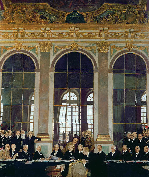 The Treaty Of Versailles Print by Sir William Orpen