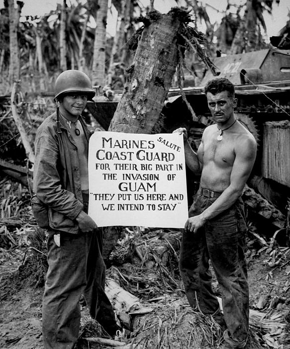 The U.s. Marines Salute The U.s. Coast Print by Stocktrek Images
