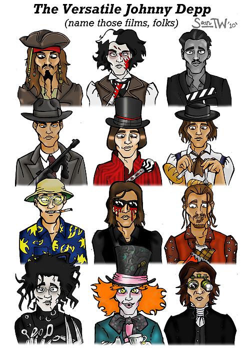 The Versatile Johnny Depp Print by Sean Williamson