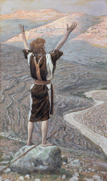 The Voice In The Desert Print by Tissot
