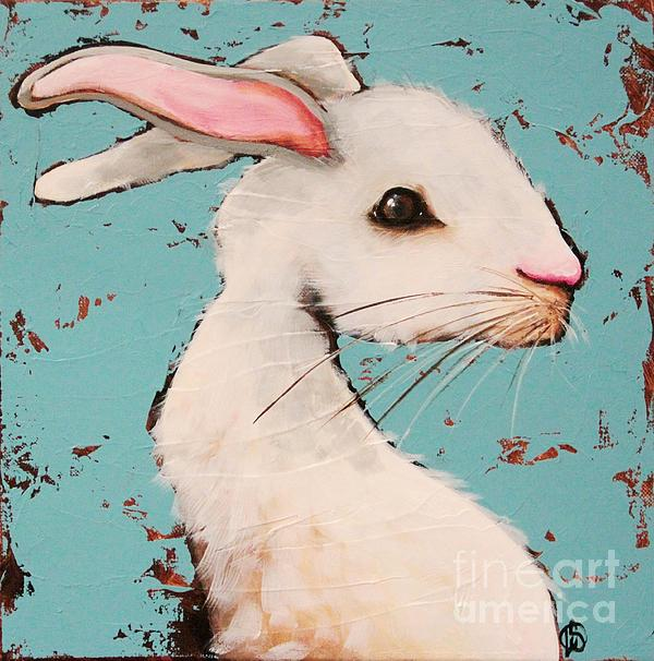 The White Rabbit Print by Lucia Stewart