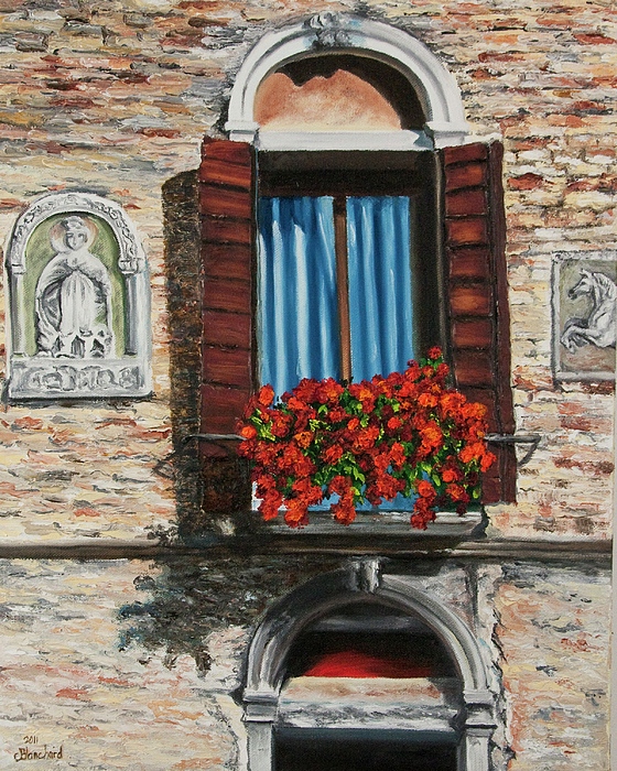 The Window Print by Charlotte Blanchard