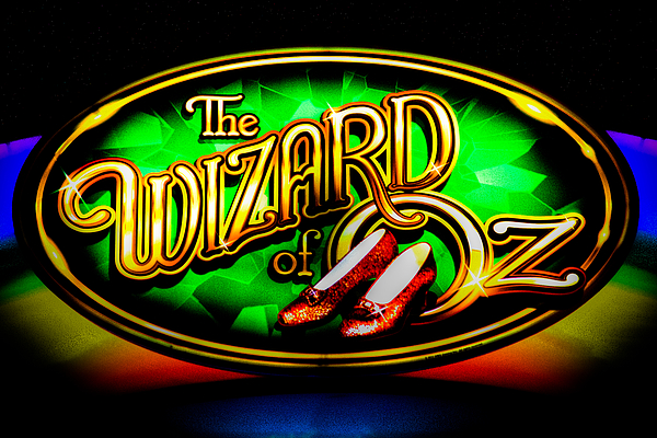 The Wizard Of Oz Casino Sign Print by David Patterson
