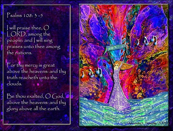 The Worshipping Heart And The Anointing Of Colors Print by Cassandra Donnelly