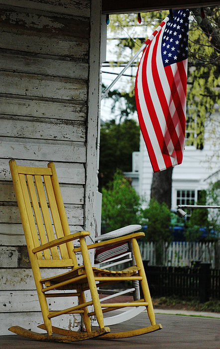 The Yellow Rocking Chair Print by AdSpice Studios