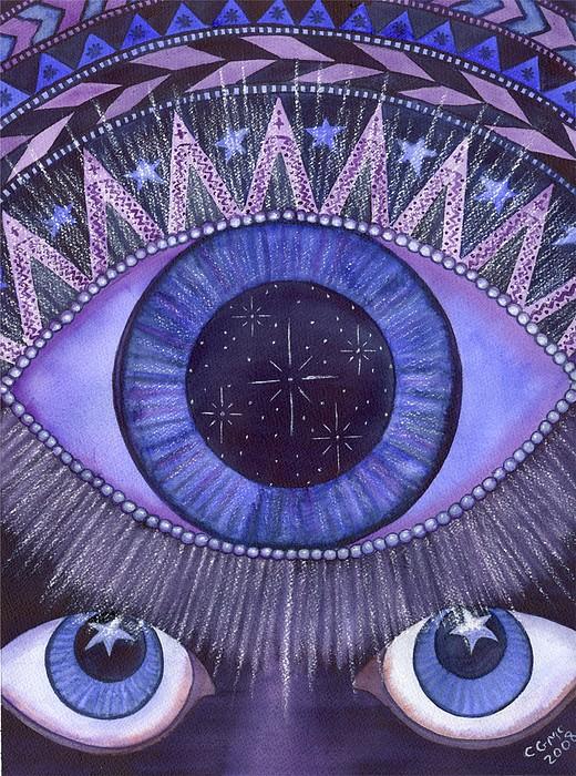 Third Eye Chakra Print by Catherine G McElroy