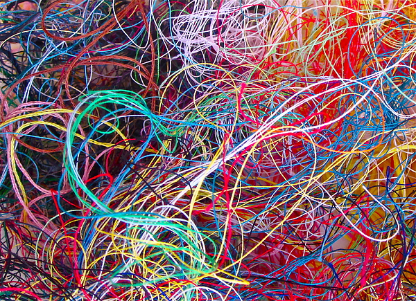 Thread Collection Print by Gwyn Newcombe