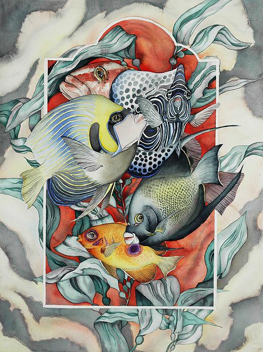 Through My Underwater Front Window Print by Liduine Bekman