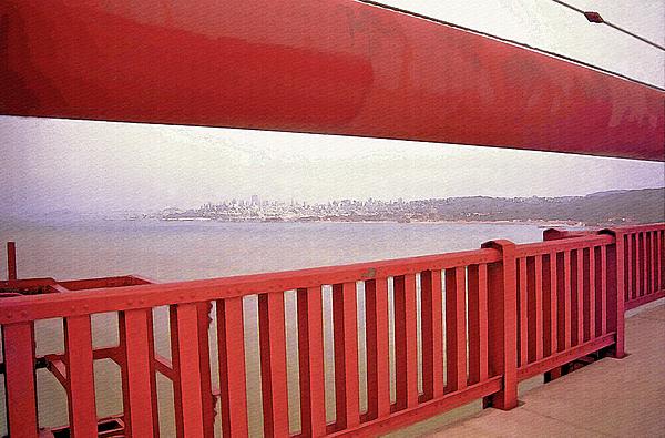 Through The Bridge View Of San Francisco Print by Steve Ohlsen