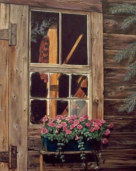Through The Cabin Window Print by Lynda  Lawrence