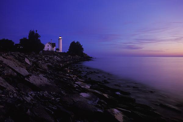 Tibbetts Point Lighthouse Sunset - Fm000014 Print by Daniel Dempster