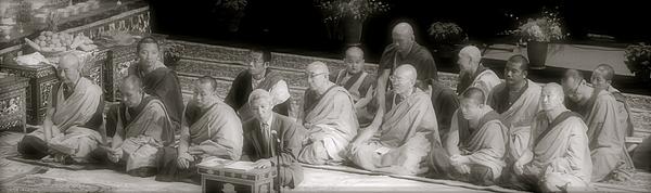 Tibetan Monks Print by Kate Purdy