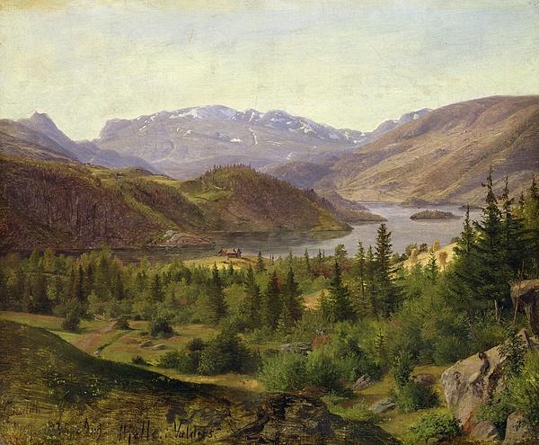 Tile Fjord Print by Louis Gurlitt