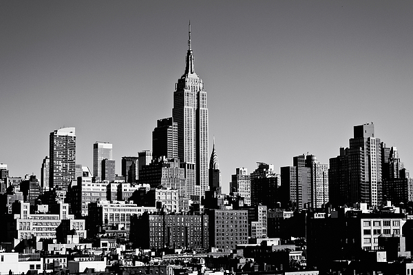 Timeless - The Empire State Building And The New York City Skyline Print by Vivienne Gucwa