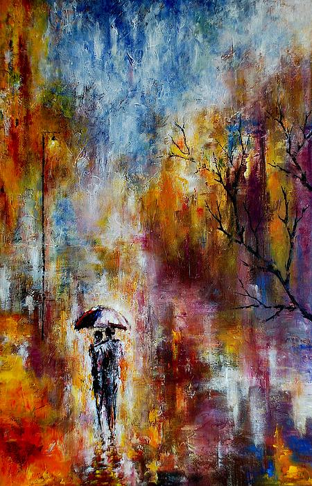 Indira Mukherji - Together in the Autumn Rain
