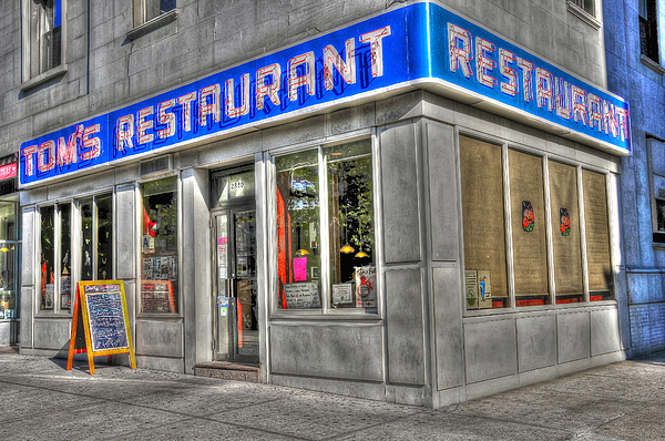 Tom's Restaurant Of Seinfeld Fame Print by Randy Aveille