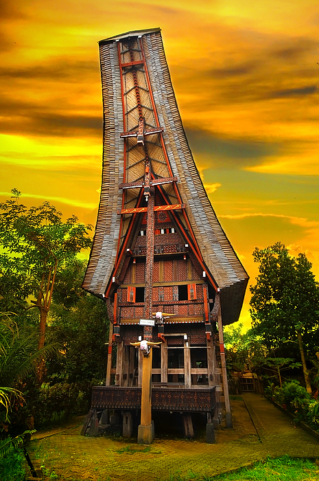 Toraja Architecture Print by Charuhas Images