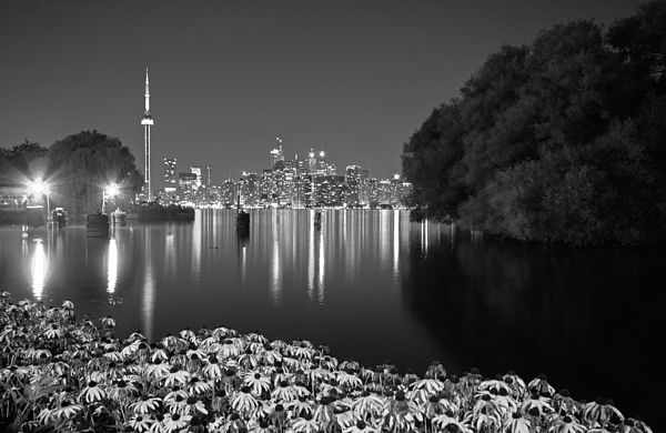 Charline Xia - Toronto Night Skyline BW