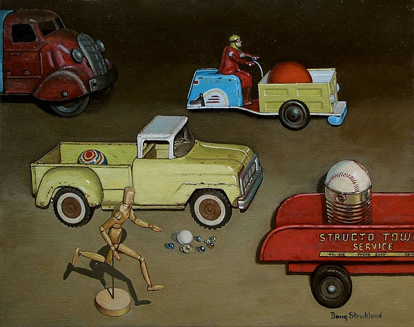 Toy Parade Print by Doug Strickland