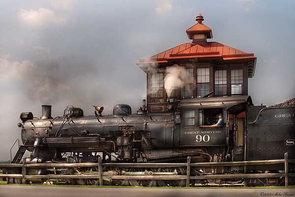 Train - Engine -the Great Western 90 Print by Mike Savad